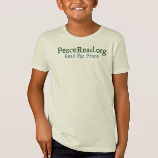 Kid's Organic PeaceRead.Org Logo Tshirt + Hello