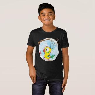 Kids' Organic T-Shirt, Black with parrot T-Shirt