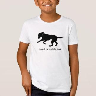 Kid's organic t-shirt playful black lab