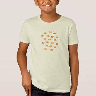 Kids' organic T-shirt with watercolor pumpkins