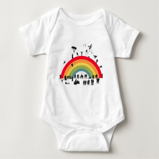 ( KID's ) Over The Rainbow Baby Bodysuit