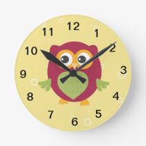 Kid's owl clock