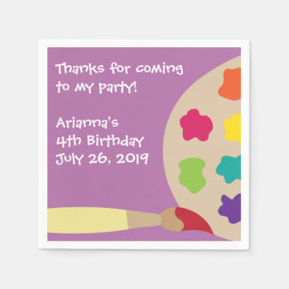 Kids Paint Party Personalized Napkins