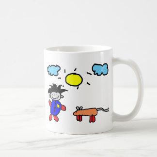 Kids Painting Coffee Mugs