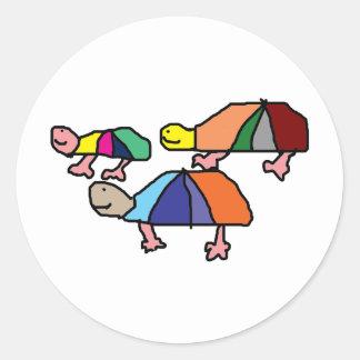 Kids Painting Round Sticker
