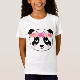 Kids Panda Shirt - little girls cute panda top