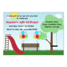 Kids Park Birthday Party Invitation 5