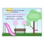 "Kids Park Birthday Party Invitation 5"" X 7"" Invitation Card"