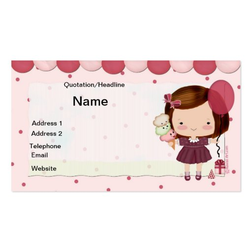 Kids Party Business Card : Zazzle