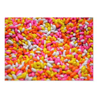 Kids party candy rainbow jelly beans confectionery card