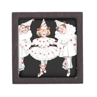 Kids Party Costume Clown Pierrot Boy Girl Keepsake Box