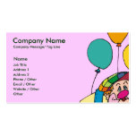 Kids Party Entertainer Business Card