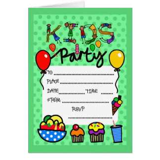 Kids Party Invitation Greeting Card