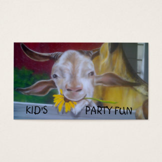 KID'S PARTY PLANNER BUSINESS CARD