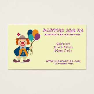 Birthday Entertainer Business Cards & Templates | Zazzle