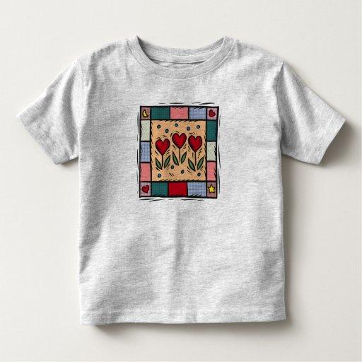 Kids Patchwork Heart Toddler T-shirt