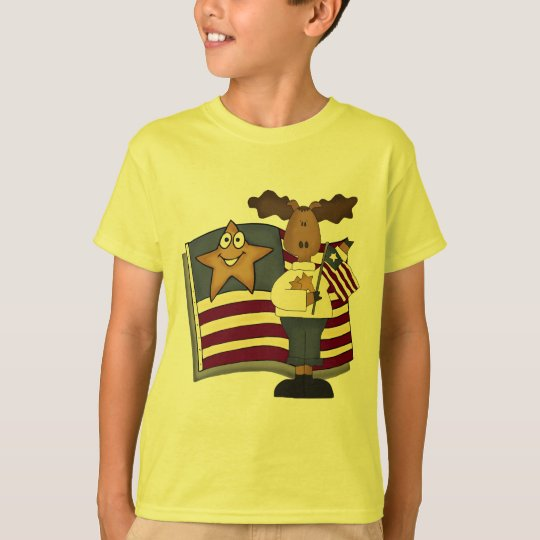 Kids Patriotic Moose T Shirts and Gifts