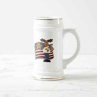 Kids Patriotic Moose T Shirts and Gifts 18 Oz Beer Stein