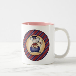 Kids Patriotic Mouse T Shirts and Gifts Two-Tone Coffee Mug