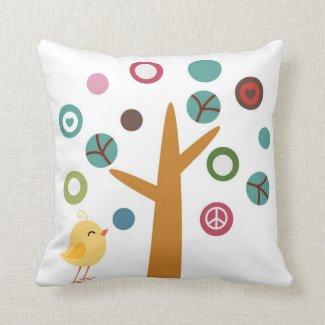 Kids Peace Tree Throw Pillow