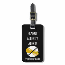 Kids Peanut Allergy Alert with Epinephrine Image Bag Tag