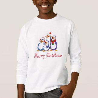Kids Penguins Merry Christmas Shirt