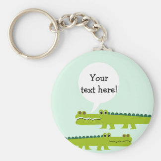 Kids Personalized Alligator Key Ring