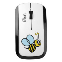 Kids Personalized Bee Cute Yellow Bumblebee Wireless Mouse