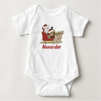 Kids Personalized Christmas Santa Sleigh Tees