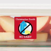 Kids Personalized Dairy Allergy Symbol No Dairy Labels