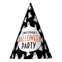 Kids Personalized Ghost Pattern Halloween Party Party Hat