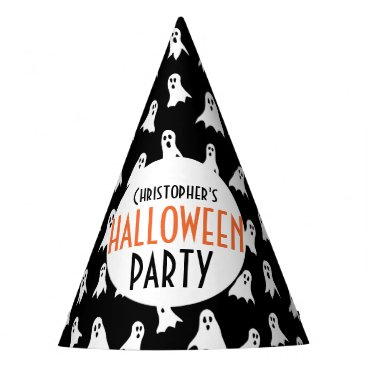 Halloween Themed Kids Personalized Ghost Pattern Halloween Party Party Hat