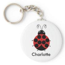 Kids Personalized Ladybug Key Ring