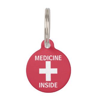 Kids Personalized Medicine Inside Emergency Info Pet Name Tag