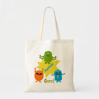 Kids Personalized Monsters Tote Bag