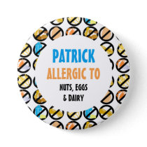 Kids Personalized Multiple Food Allergies Button
