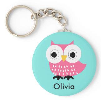 Kids Personalized Owl Key Chain
