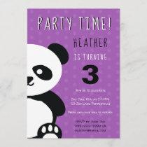 Kids Personalized Panda Kawaii Birthday Invitation
