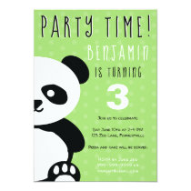 Kids Personalized Panda Kawaii Birthday Invitation