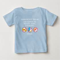 Kids Personalized Peanut, Egg & Shellfish Allergy Baby T-Shirt