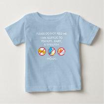 Kids Personalized Peanut, Egg & Shellfish Allergy Baby T-Shirt