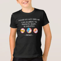 Kids Personalized Peanut, Egg & Shellfish Allergy T-Shirt