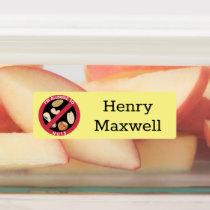 Kids Personalized Peanut Tree Nut Allergy Kids' Labels