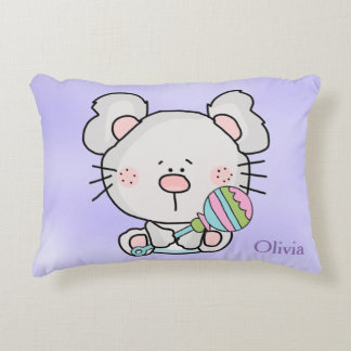 Kid's Personalized Pillow Baby Mouse Rattle
