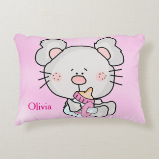 Kid's Personalized Pillow Mouse with Baby Bottle