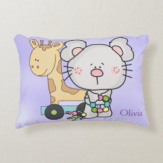 Kid's Personalized Pillow Mouse with Baby Toys