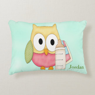 Kid's Personalized Pillow Owl Baby Blocks