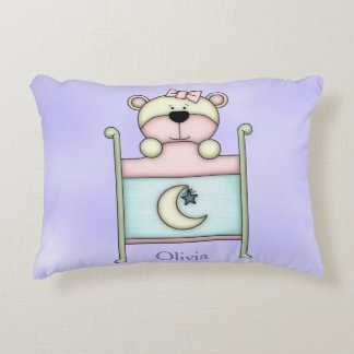 Kid's Personalized Pillow Teddy Bear in Crib