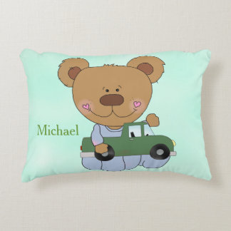 Kid's Personalized Pillow Teddy Bear Toy Truck