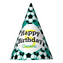 Kids Personalized Soccer Ball Happy Birthday Sport Party Hat